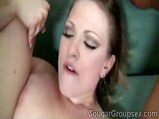 Noisy Milfs Get Their Pussies Smashed By A Massive Meatbonew-6