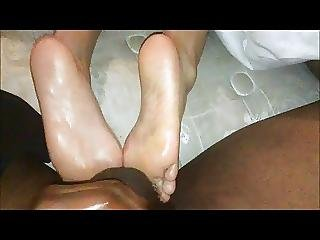 Amateur, Balls, Black, Cfnm, Ebony, Fetish, Foot, Massage, Toes