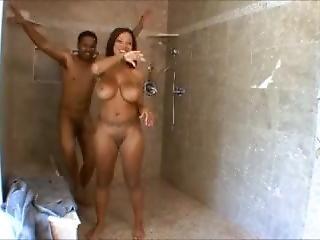 Big Tits Ebony Fucked Under The Shower