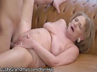 Mature Gets Her Titties Sucked And Young Dick Injected%21