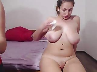 Huge Titty Girl Fucks Sucks And Jerks