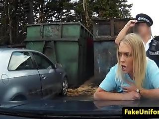 British Babe Bent Over And Fucked By Officer