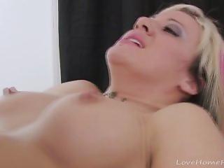 Blonde Slut Ends Up Fucking Her Horny Client