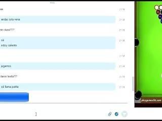 Skype With Drunk Horny Milf