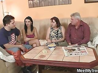 Fucking, Mature, Old, Parents, Teen, Threesome, Young