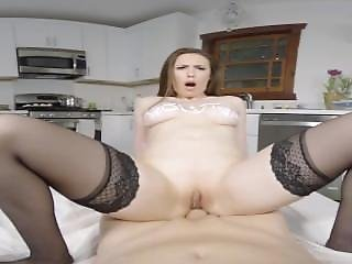 Cute Milf Sous Chef Rides Her Masters Cock