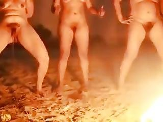 Brazilian Matures Pissing Around The Fire