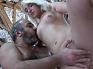 Old Guy Blonde Teen Blowjob Sucking Fuck Glasses