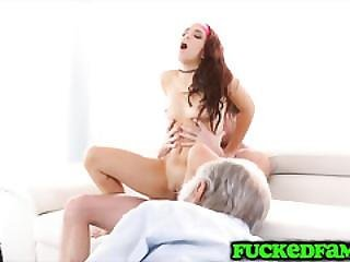 Teen Brooke Haze Fuck Step Sibling While Gramps Sleep