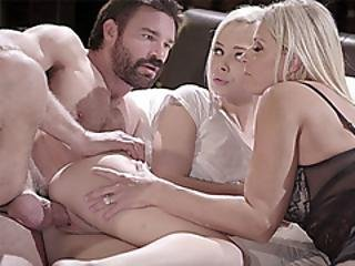 Foster Couple Takes In Shy Blonde Teenie And Fuck Her