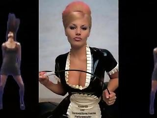 tette grandi, tedesca, latex, cameriera, festa, russa, sexy, da sola, travestito