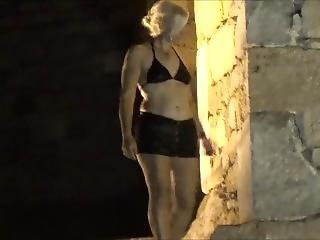 Naughty Night Walk In Black Microskirt Fingering Exhibition.
