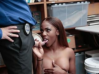 Horny Dude Officer Penetrates Sarah Banks Wet Pussy So Deep And Hard