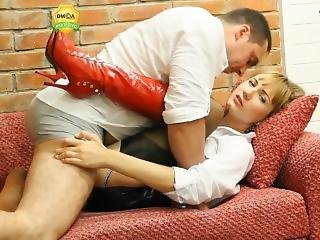 Angel - Creampie Leather Skirt