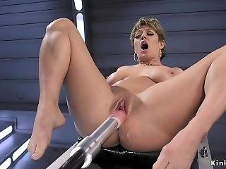 Darling Is Machine Fucked In Her Pussy And Ass With Squirting Orgasms