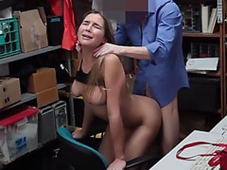 Shy Busty Teen Shoplifter Fucked On Cctv By An Officer