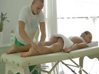 Cute Teen Babe Fantasy Fucking On Massage Table