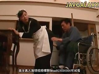 Slutty Japanese Maid Riding Hard Shlong