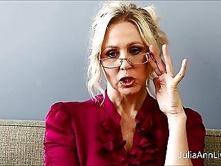 Busty Blonde Teacher Julia Ann Fucks Herself