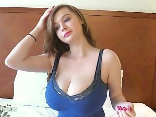 Amanda Love - Large Young Natural Boobs On Bed