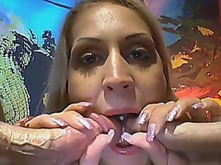 Blonde Bitch Rides Cocks And Gets Her Body Covered With Piss