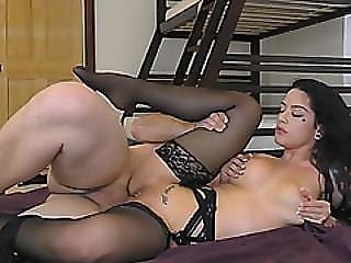 Katrina Jade Gets Shaved Cunt Stuffed By Schlong