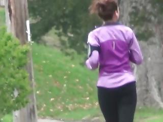Tight Ass Vpl Spandex Ass Jogging