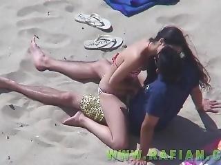 sztuka, plaża, nago, publicznie, seks