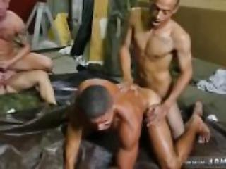 Gay man fingering black ass  first
