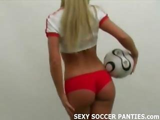 Busty Blonde Czech Amateur Soccer Girl Teasing