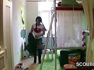 German Hot Mom Seduce To Fuck By Step Son When Home Alone