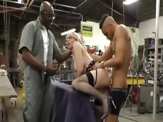 Busty Blonde Christie Stevens Gets Anal From Big Black Cocks