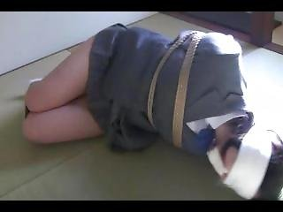 Asian Schoolgirl Microfoam Gagged