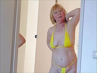 bikini, mogen, milf