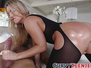 Big Ass Teen Candice Dare Blowing And Riding A Big Fat Dick