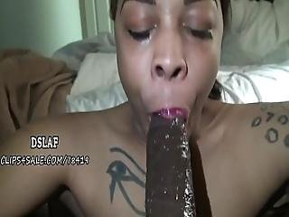 Redbone Stripper Chokes On Cum After The Best Deepthroat Ever- Dslaf