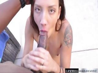 Sophia Is Affraid Of Bbc Until She Gets It Down Her Throat