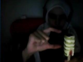 Hayat El Allouchi On Skype Chatting At Night Part 2