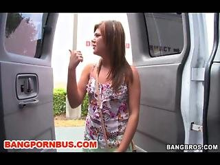Try To Turn A Bi Lesbian Straight With Some Dick On Bangbus Today