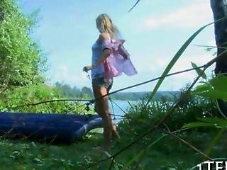 Blonde Teens Anal And Pussy Humping Done Lakeside