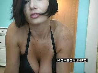 Hot Step-mother Teases Her Step-son