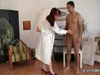 He Bangs Lovely Mature Paintress
