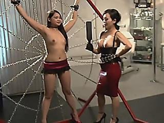 Swinger Couples Having Great Bondage Threesome Action
