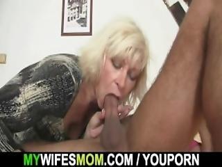 Blonde Mother Inlaw Seduces Married Man