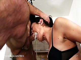 Valentina Bianco - Filthy Whore At Work Uncensored Milk Vomit