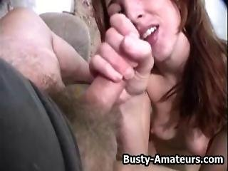 Busty Brunette Kurious On Her Classic Pov