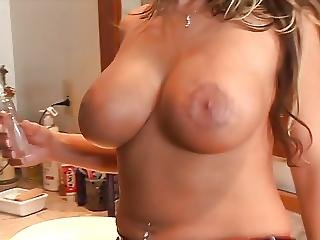 Babe, Big Boob, Big Tit, Blowjob, Boob, Cumshot, Fishnet, Interracial, Sucking