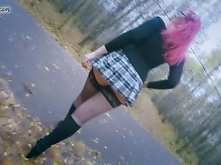 Micro Skirt Slut Walking