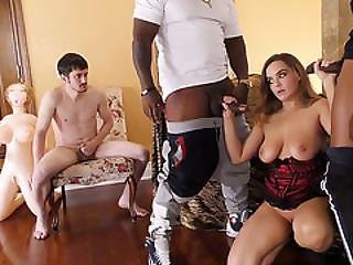 Natasha Nice Waits Two Black Bulls With Two Cuckold