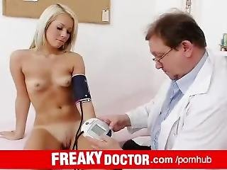 Hot Czech Blondie Venus Devil Visits Dirty Doctor